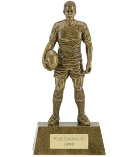"""Male Rugby Player Trophy 22cm (8.75"""")"""