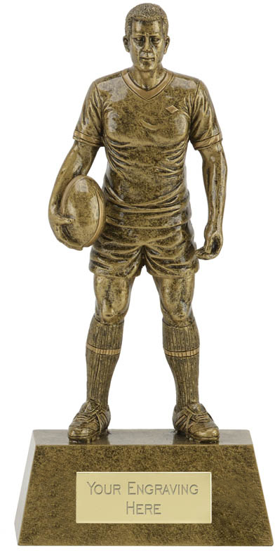 """Male Rugby Player Trophy 18.5cm (7.25"""")"""