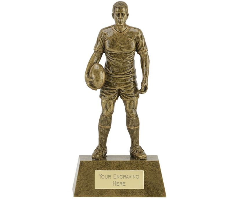 "Male Rugby Player Trophy 22cm (8.75"")"
