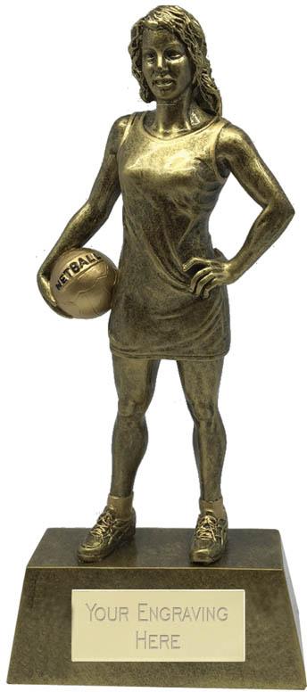 "Female Netball Player Trophy 22cm (8.75"")"