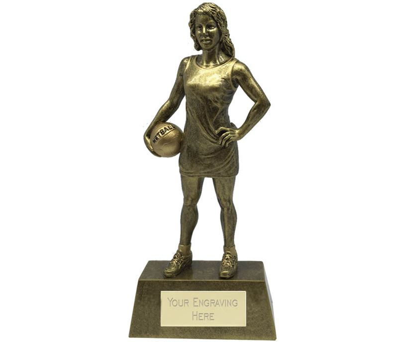 "Female Netball Player Trophy 22cm (8.75"")"