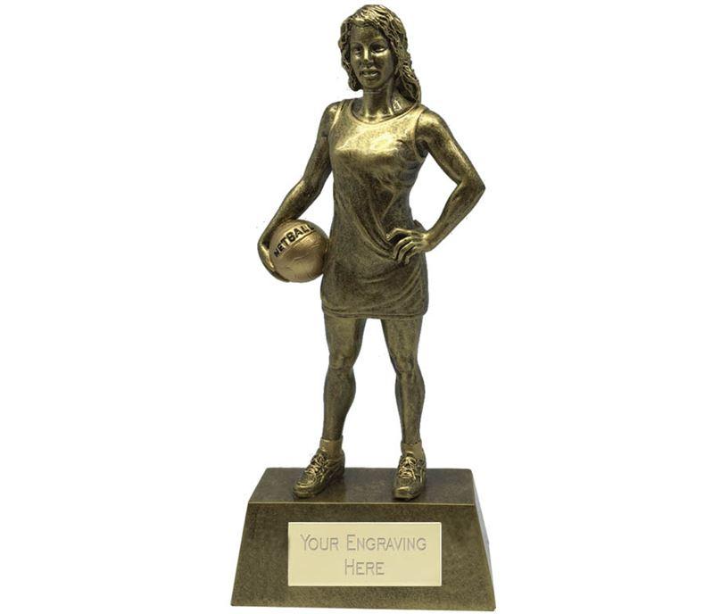 "Female Netball Player Trophy 18.5cm (7.25"")"