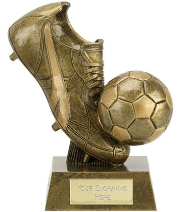 "Presentation Football Boot & Ball 15cm (6"")"