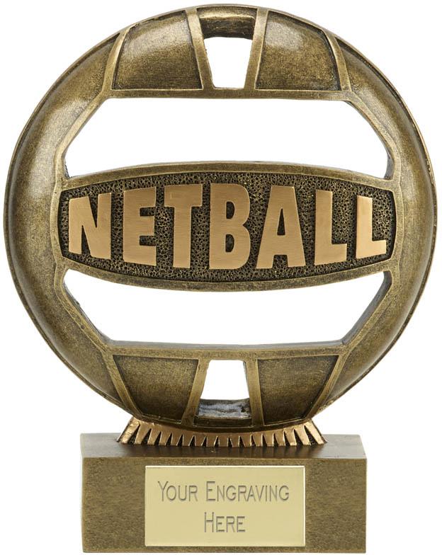 "The Ball Netball Trophy 18cm (7"")"