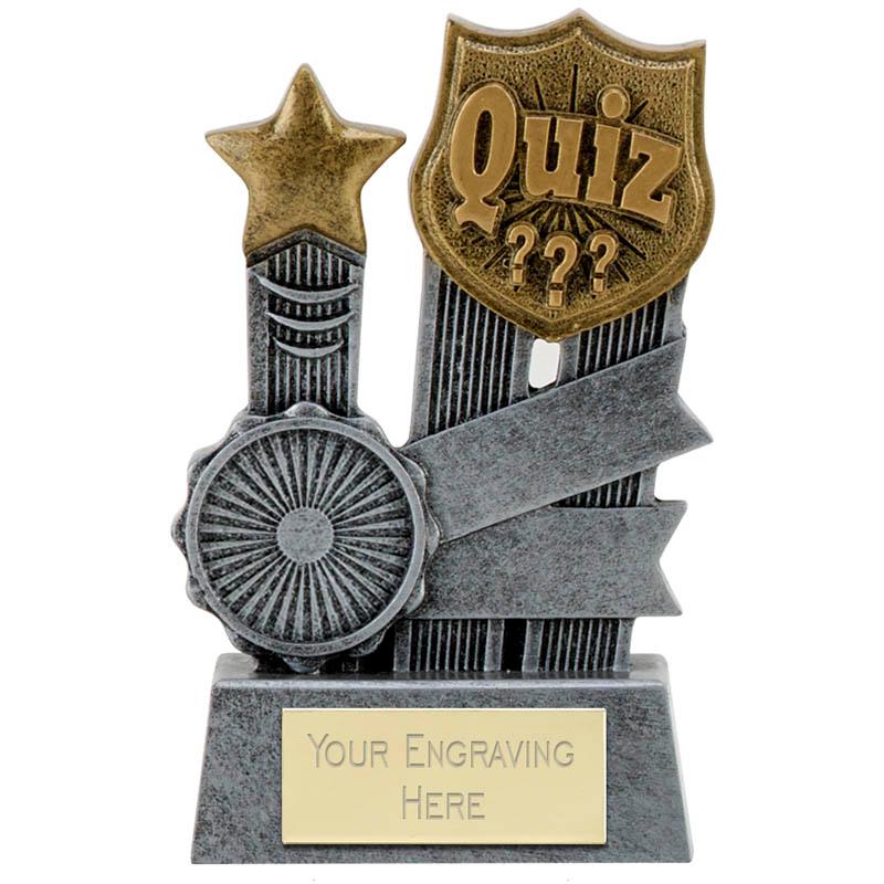"Ribbon Quiz Trophy 9.5cm (3.75"")"