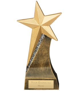"Star Multi Award Trophy Antique Gold 18cm (7"")"