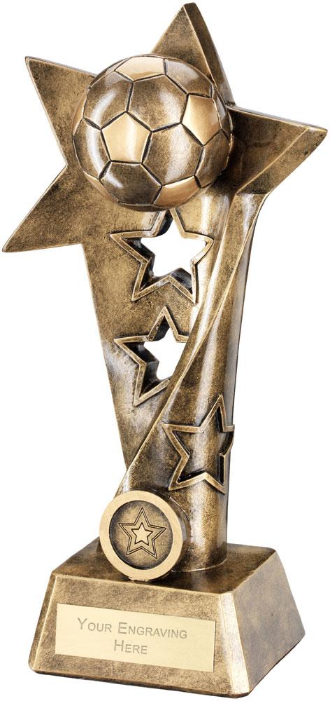 """Football Twisted Star Column Trophy 30cm (11.75"""")"""