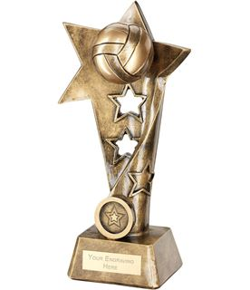 "Volleyball Twisted Star Column Trophy 19cm (7.5"")"