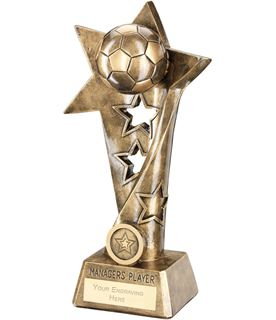 "Football Twisted Star Column Trophy -Managers Player 26cm (10.25"")"