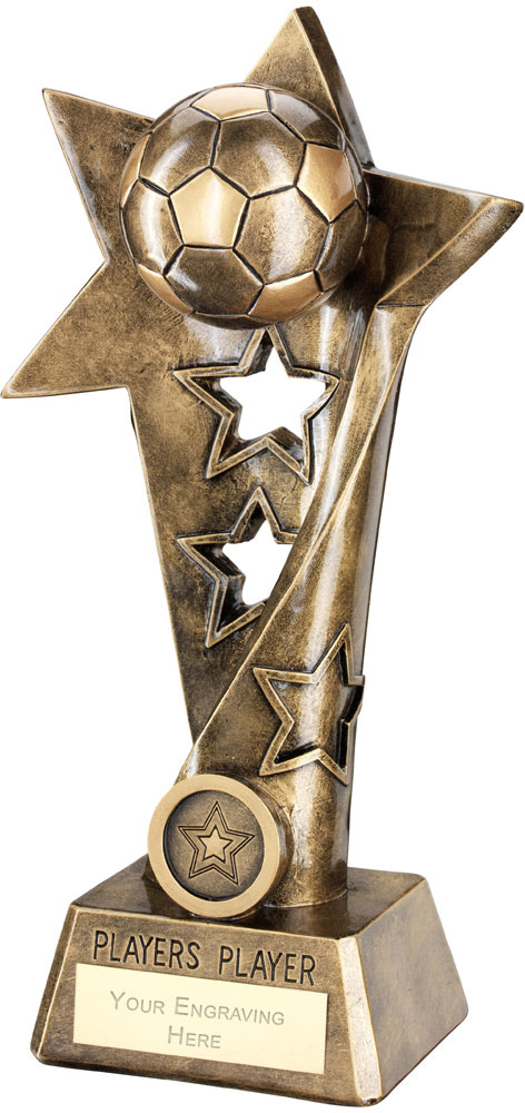 "Football Twisted Star Column Trophy -Players Player 26cm (10.25"")"