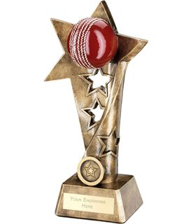 "Cricket Twisted Star Column Trophy 19cm (7.5"")"
