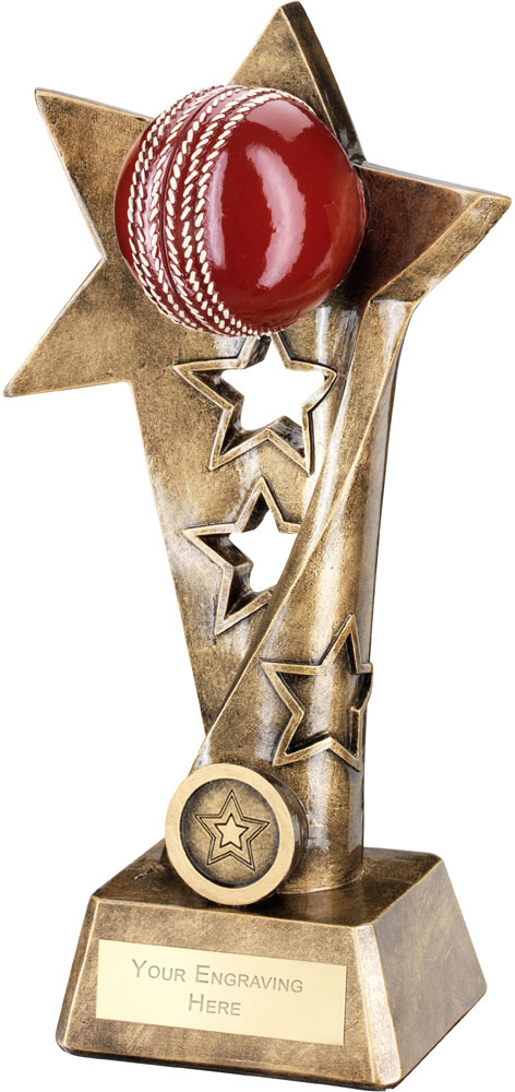 "Cricket Twisted Star Column Trophy 26cm (10.25"")"