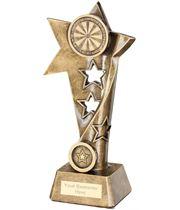 """Darts Twisted Star Column Trophy 23cm (9"""")"""