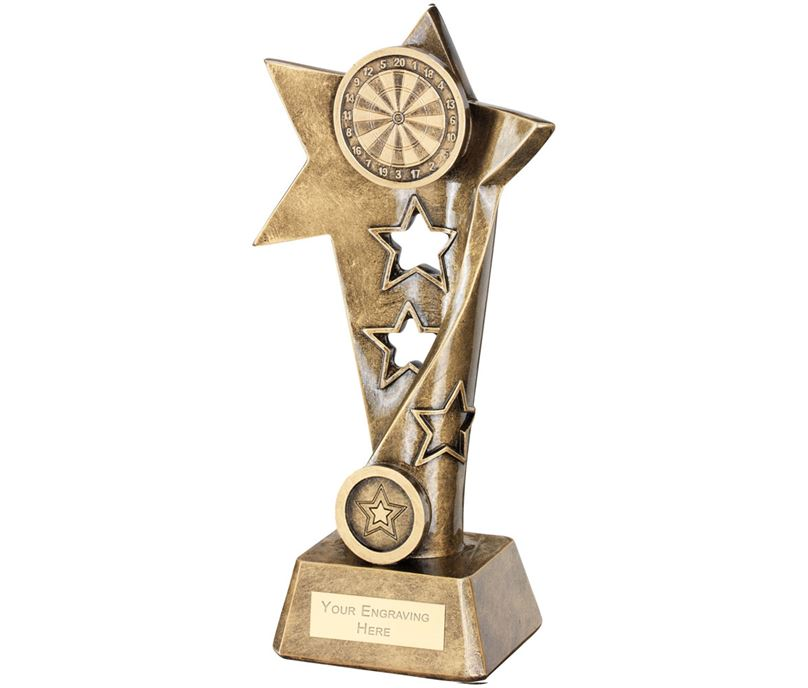 "Darts Twisted Star Column Trophy 23cm (9"")"
