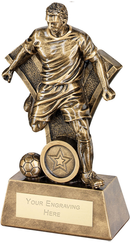"Male Football Figure Victory Trophy 18.5cm (7.25"")"