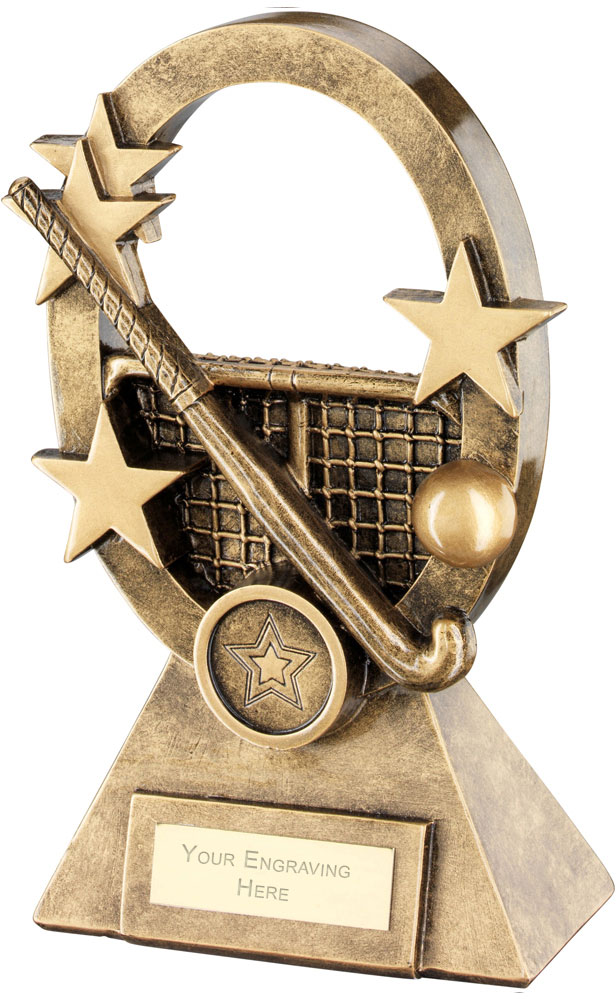 "Hockey Oval Stars Series Trophy 18.5cm (7.25"")"