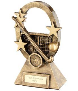 "Hockey Oval Stars Series Trophy 16cm (6.25"")"