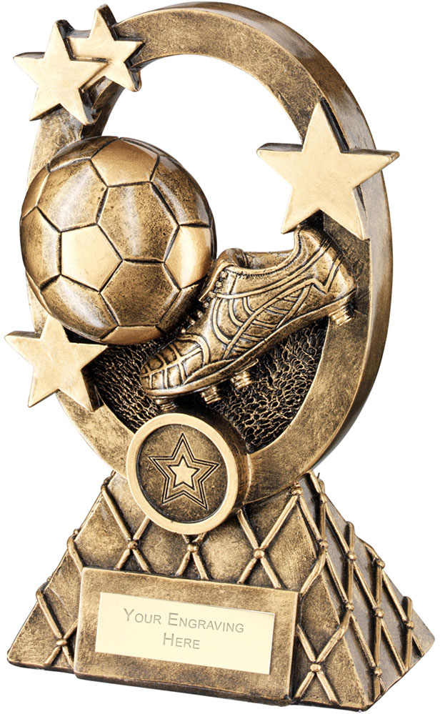 "Football Oval Stars Series Trophy 18.5cm (7.25"")"