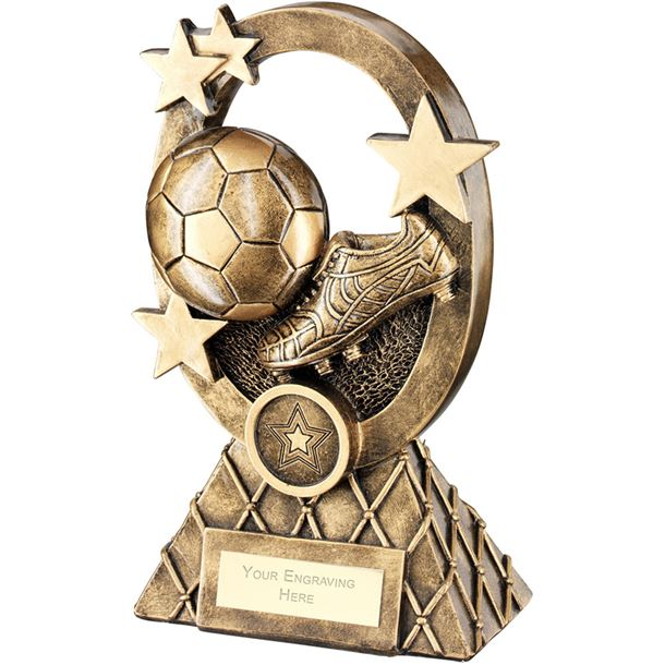 "Football Oval Stars Series Trophy 21cm (8.25"")"