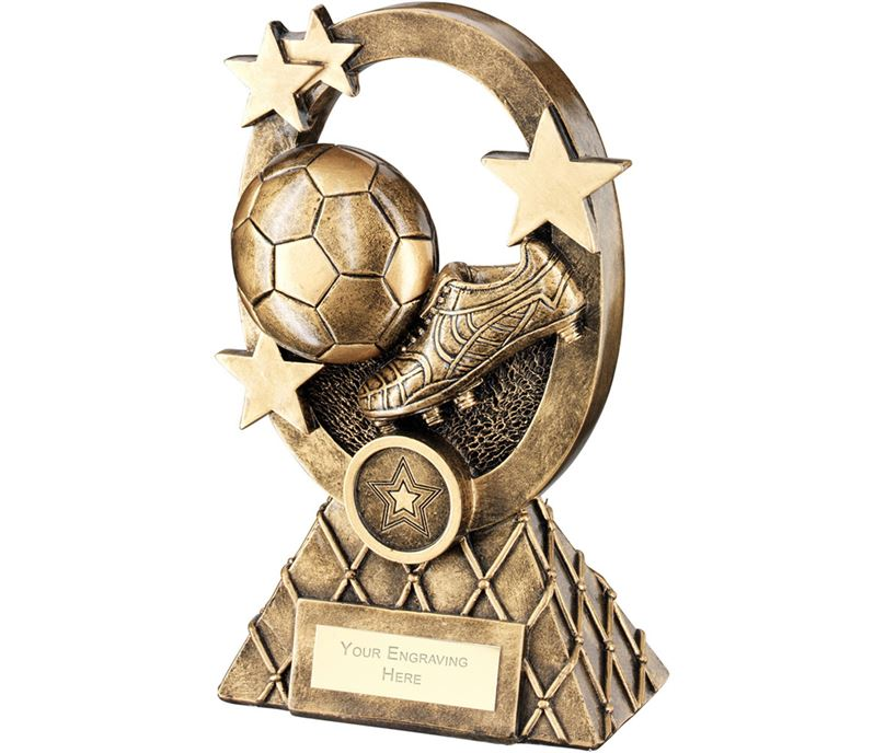 "Football Oval Stars Series Trophy 16cm (6.25"")"
