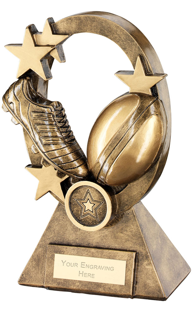 "Rugby Oval Stars Series Trophy 21cm (8.25"")"