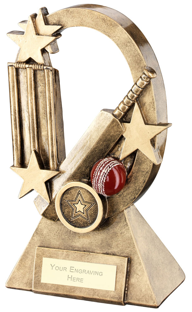 "Cricket Oval Stars Series Trophy 16cm (6.25"")"