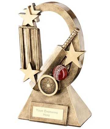 "Cricket Oval Stars Series Trophy 18.5cm (7.25"")"