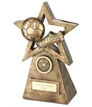 "Football Boot On Star And Pyramid Trophy 24cm (9.5"")"