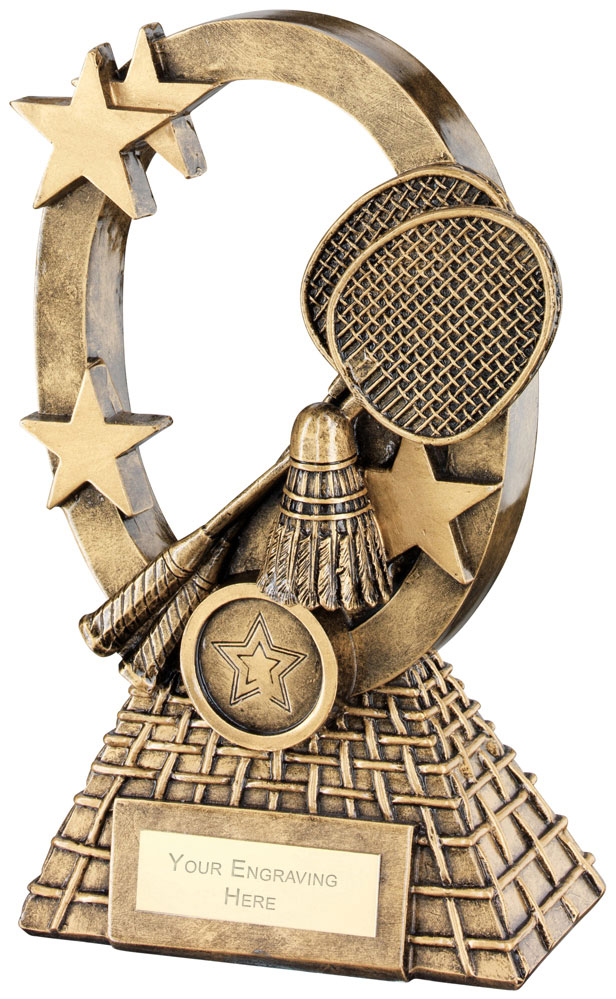"Badminton Oval Stars Series Trophy 18.5cm (7.25"")"