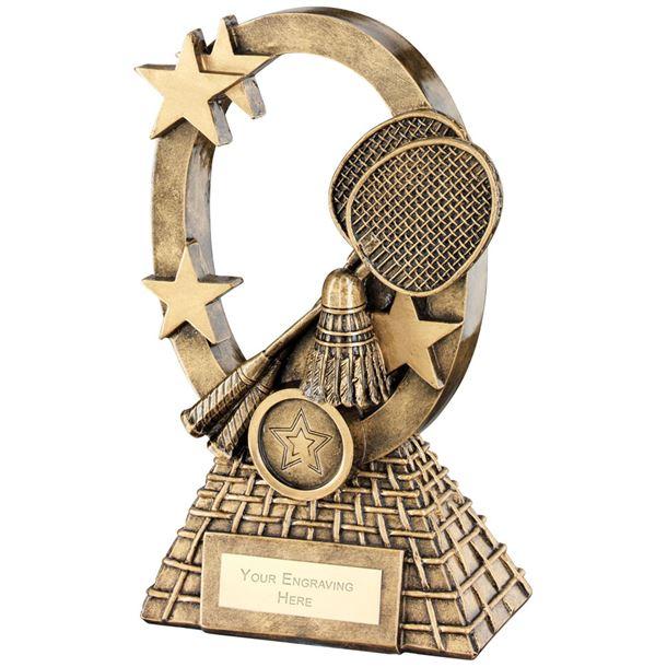 "Badminton Oval Stars Series Trophy 16cm (6.25"")"