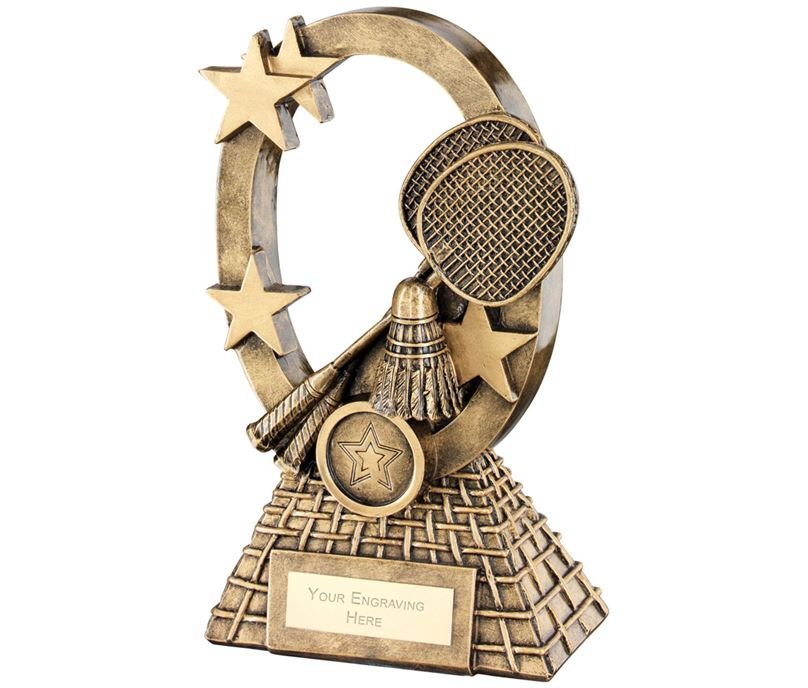 "Badminton Oval Stars Series Trophy 16cm (6.25"")"