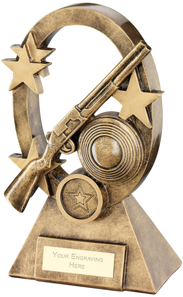 "Shooting Oval Stars Series Trophy 18.5cm (7.25"")"