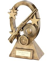 "Shooting Oval Stars Series Trophy 16cm (6.25"")"