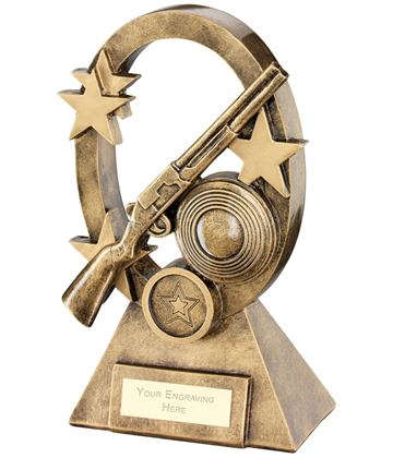 "Shooting Oval Stars Series Trophy 16cm (6.25"")"
