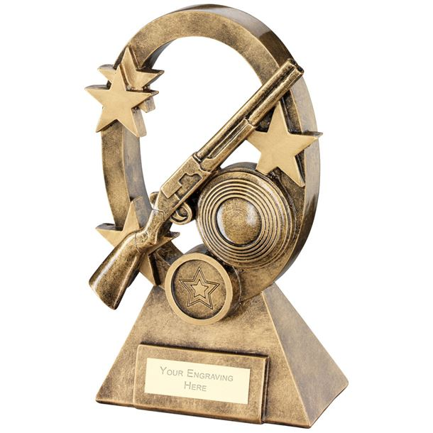 "Shooting Oval Stars Series Trophy 18.5cm (7.25"")"