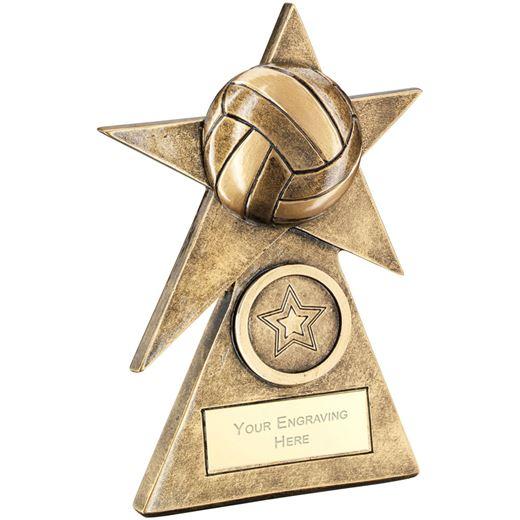 "Netball Star On Pyramid Base Trophy 15cm (6"")"
