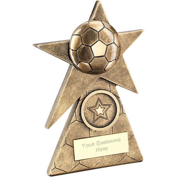 """Football Star On Pyramid Base Trophy 15cm (6"""")"""