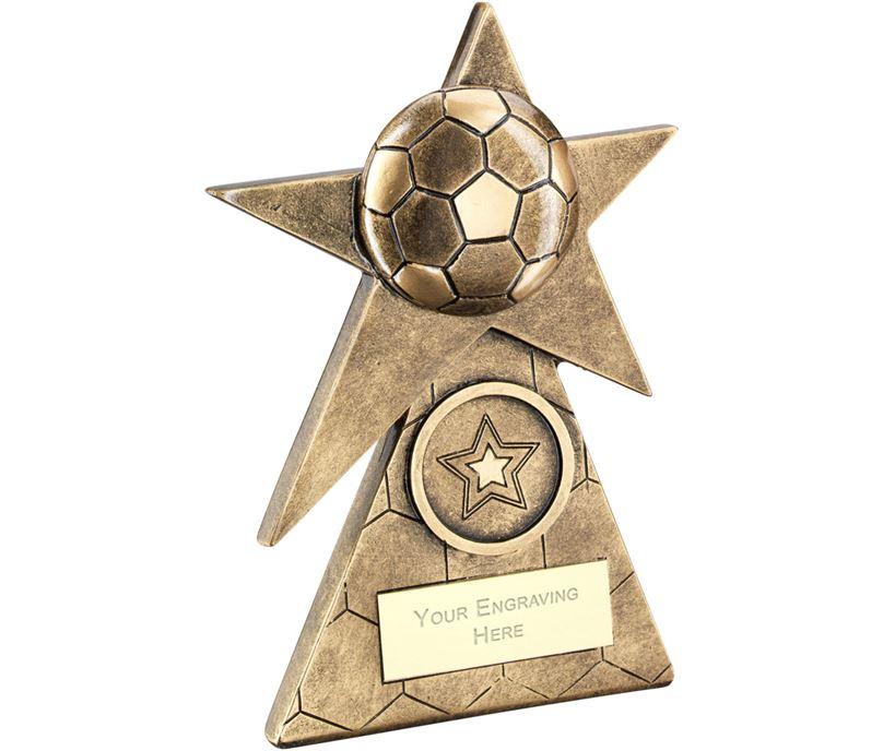 """Football Star On Pyramid Base Trophy 12.5cm (5"""")"""