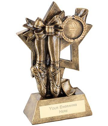 """Ballet On Star Backdrop Trophy 14.5cm (5.75"""")"""