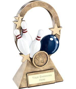 """Multi Ten Pin Oval Stars Series Trophy 18.5cm (7.25"""")"""