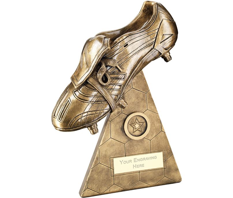 "Football Boot On Pyramid Riser Trophy 23.5cm (9.25"")"