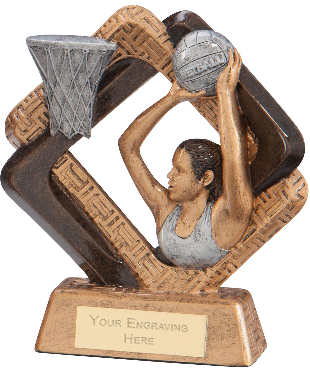 "Sporting Unity Netball Award 16.5cm (6.5"")"