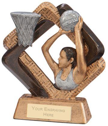 "Sporting Unity Netball Award 13.5cm (5.25"")"