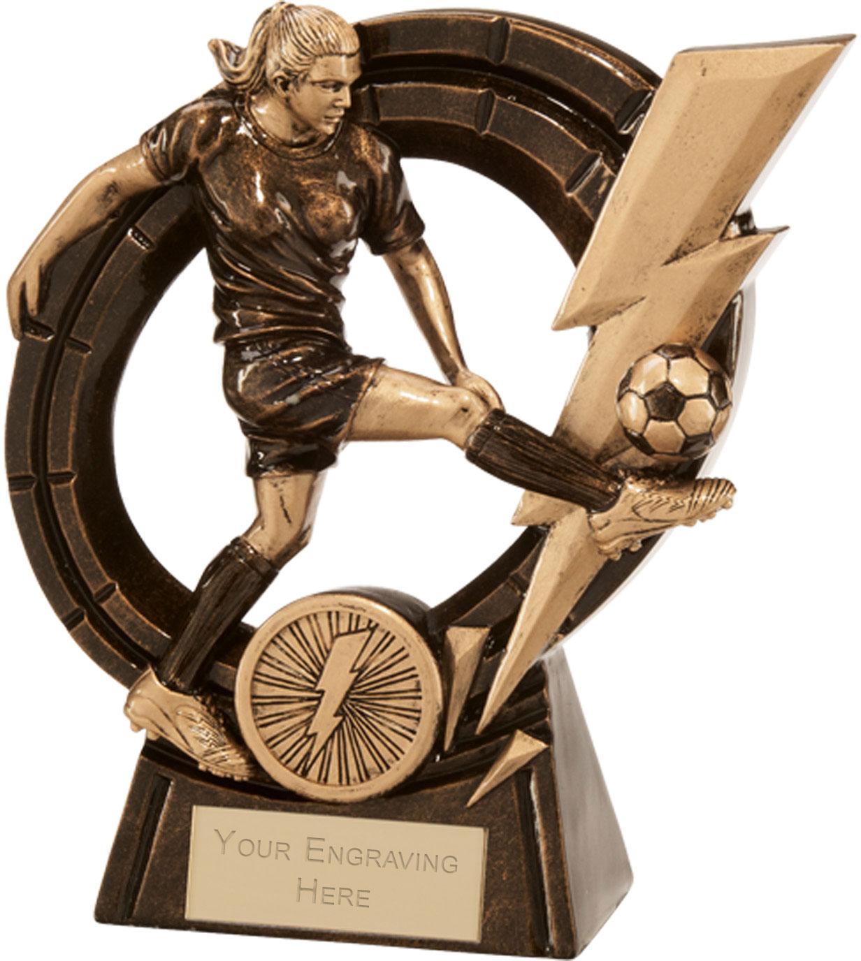 """Female Thunderbolt Striker Football Award 14.5cm (5.75"""")"""