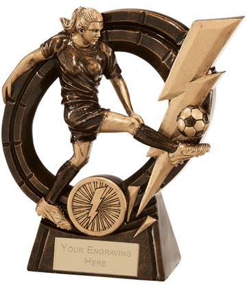 "Female Thunderbolt Striker Football Award 14.5cm (5.75"")"