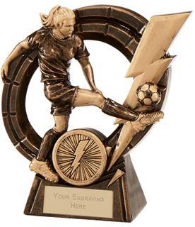 """Female Thunderbolt Striker Football Award 12.5cm (5"""")"""