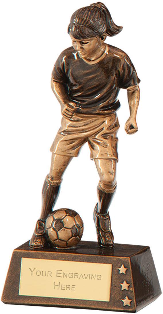 "Protege Girl Football Award 12.5cm (5"")"