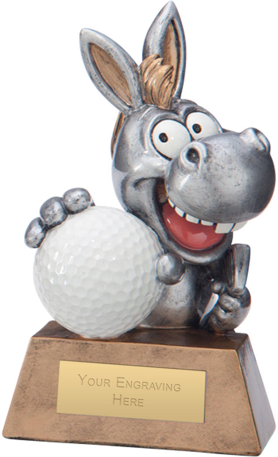 "What A Donkey! Golf Award 13cm (5"")"