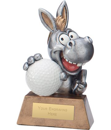 "What A Donkey! Golf Award 13cm (5"")"