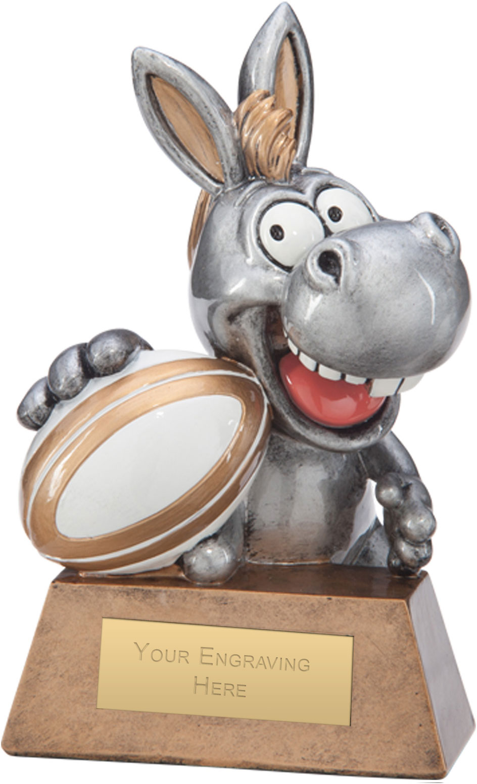 """What A Donkey! Rugby Award 13cm (5"""")"""